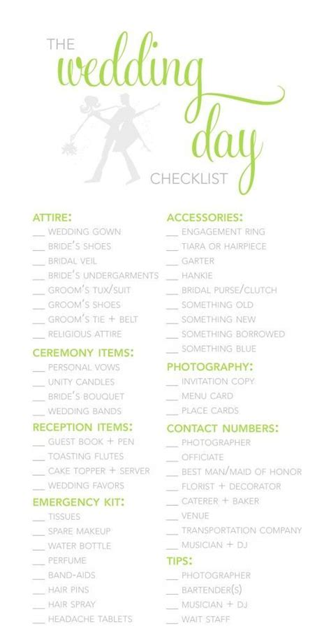wedding planner template guide checklist decoration