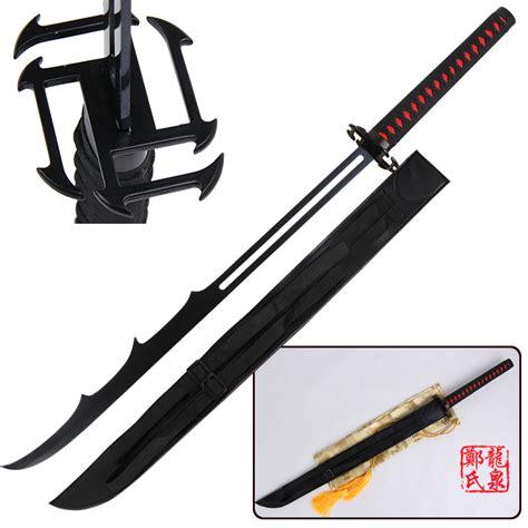 Indo Pedang Samurai Katana Ichigo Bankai Black popular ichigo sword buy cheap ichigo sword lots from china ichigo sword suppliers on aliexpress