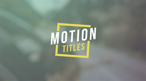 Motion Titles Abstract After Effects Templates F5 Design Com Motion Title Templates