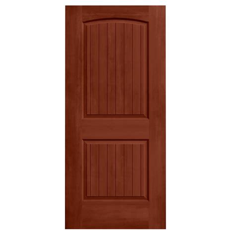 Masonite Cheyenne Interior Doors Masonite 32 In X 80 In Cheyenne Smooth 2 Panel Camber Top Plank Hollow Primed Composite
