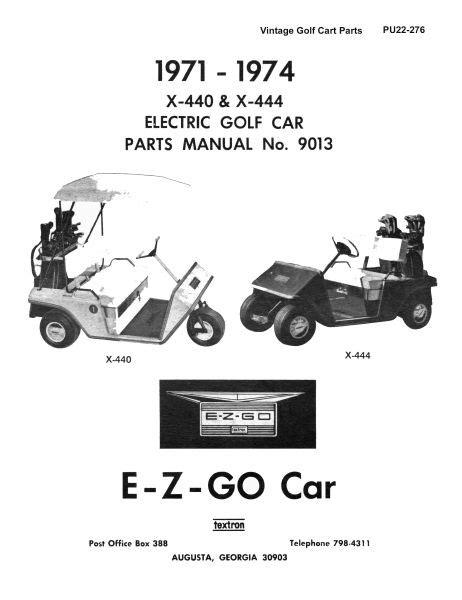 PU22-276 - Parts Manual, Electric, '71-'74 - Vintage Golf