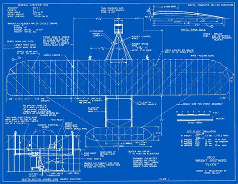 construction blue prints wright models