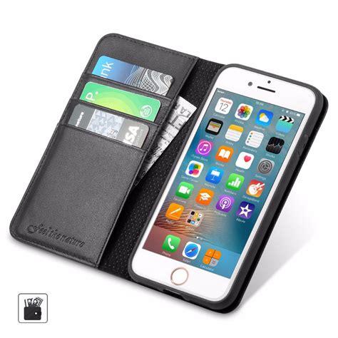 shieldon iphone 7 plus kickstand genuine leather wallet