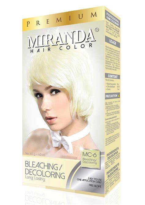 Miranda Hair Color Brown 60ml miranda hair color premium bleaching 60ml x 2 lensza
