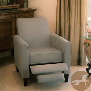 Small Gray Recliner Christopher Home Darvis Grey Recliner Club Chair