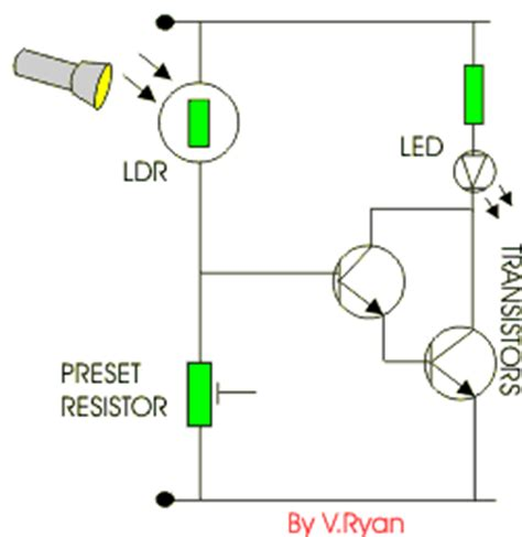 light dependent resistor isa scheme light dependent resistors electronic diy diy electronics circuit diagram and