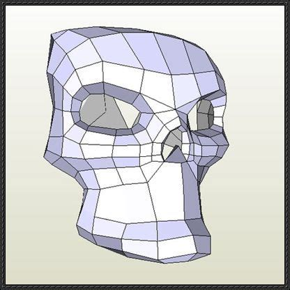 Paper Craft Skull - new paper craft skull mask papercraft free