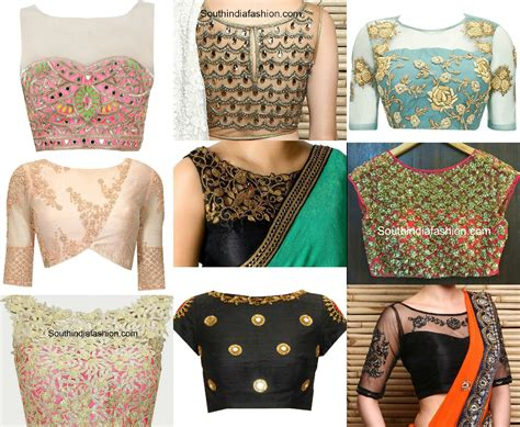 boat neck net blouse blouse neck designs south india fashion
