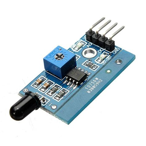 lm393 760nm 1100nm ir infrared sensor module board for arduino alex nld