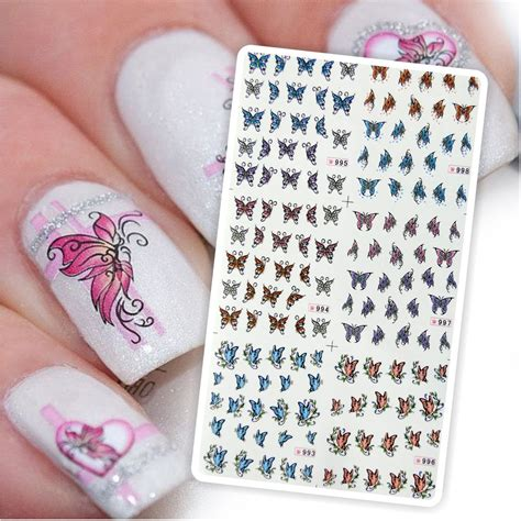 effect nail design kit kit de tatto mariposas para u 241 as stickers al algua nail