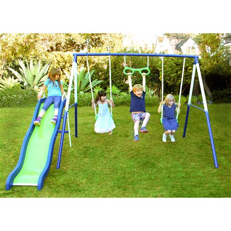 Metal Swing Sets - sportspower vista metal swing and slide set ebay