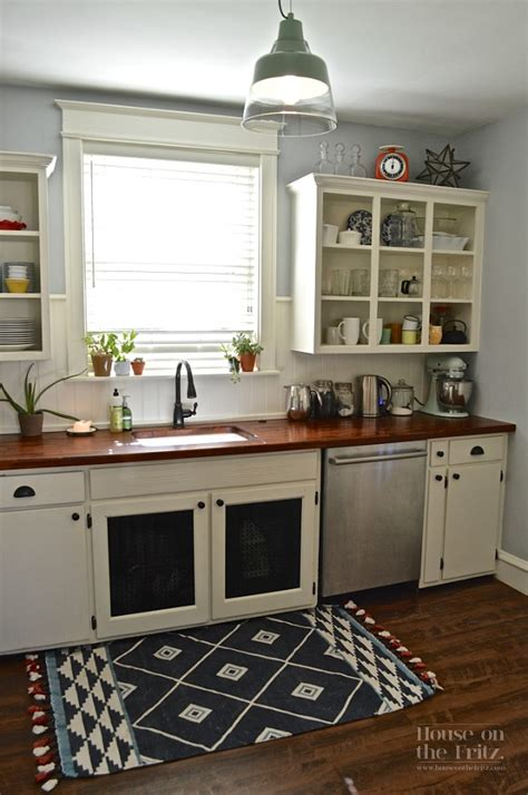 renovating old kitchen cabinets an old kitchen gets a new look for less than 1 500