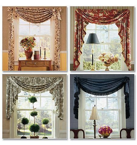 Window toppers, Swag and Sewing patterns on Pinterest