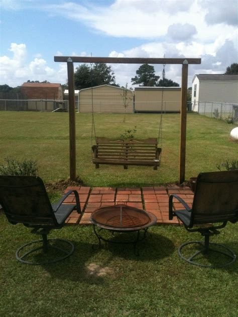 fire pit with swings swing fire pit diy pinterest