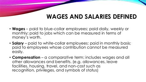 wage meaning wages and salaries administration
