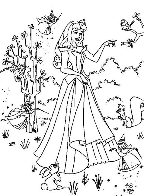 coloring page princess disney princess and animals coloring pages to