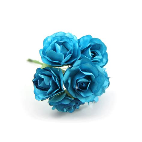Ribbon Metal Wall Decor Turquoise Paper Flowers Paper Craft Flower Paper Rose