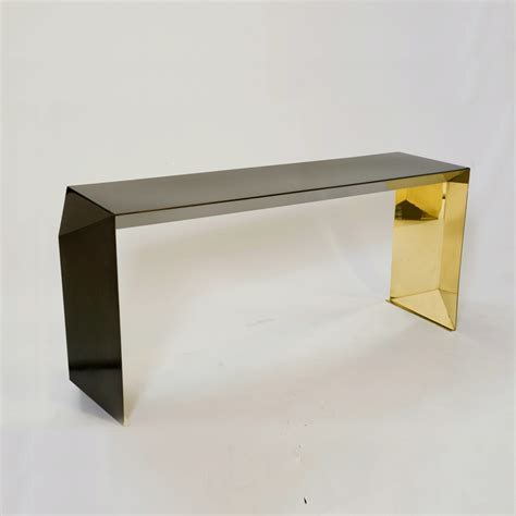 Origami Table - origami console table brass yukonishikawa