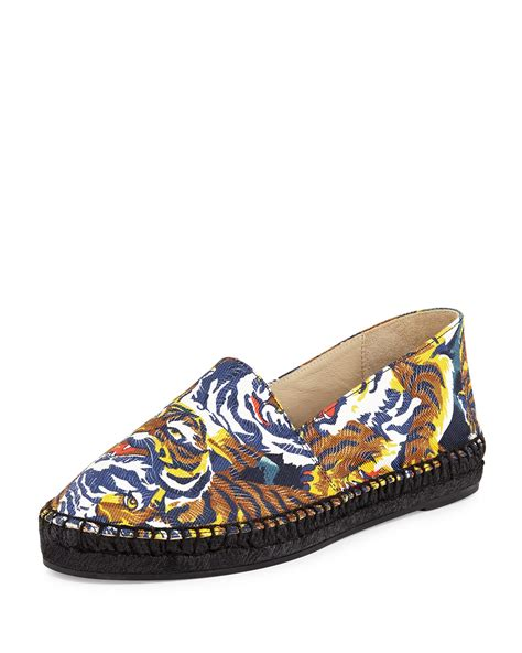 Strawberry Print Canvas Flats At Asos by Lyst Kenzo Tiger Print Canvas Espadrille Flat In Blue