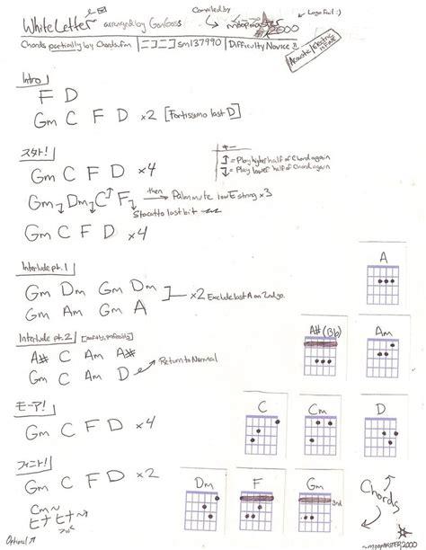 Letter Chords Guitar Chords White Letter By Moopmaster2000 On Deviantart