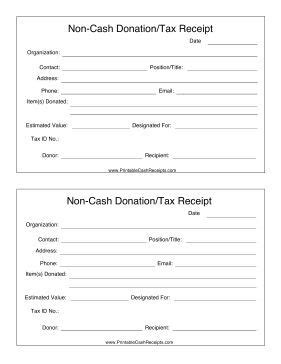 charity auction receipt template if you make a non donation such as clothing