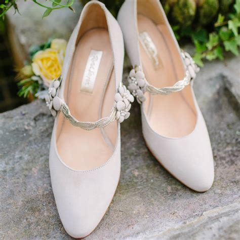 Family Flat Shoe myrtle ivory suede wedding shoes by
