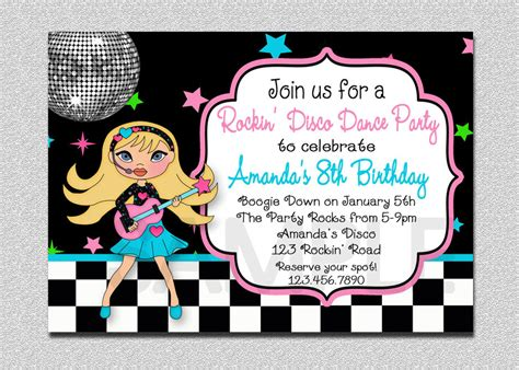 kids dance party invitations cloudinvitation com