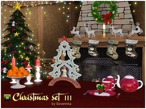 sims 3 christmas decor cc severinka s set iii