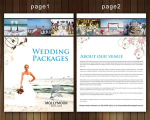 Wedding Decorations Brochure by 38 Professional Wedding Brochure Designs For A Wedding