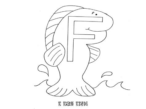 F Fish Coloring Page by Letter F Worksheets Free Printable Loving Printable