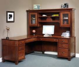 arlington series l shaped desk with hutch top office