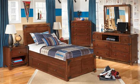 youth bedroom furniture with storage delburne youth panel storage bedroom set from b362
