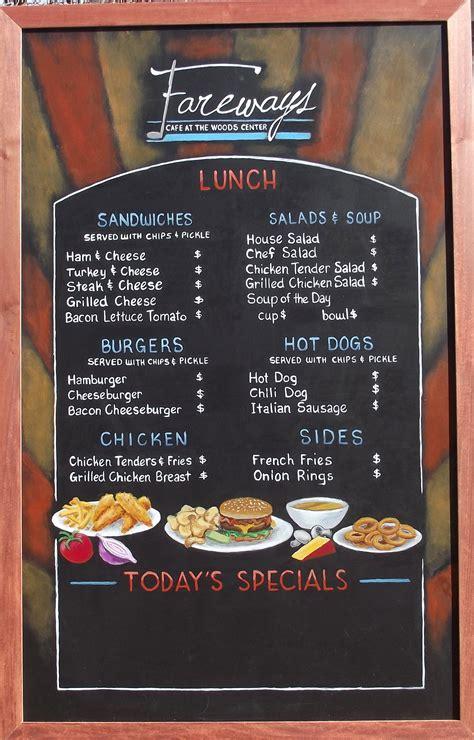 design menu sign new fareways cafe chalkboard menus chalkboard menu signs