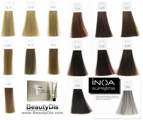 loreal inoa supreme colour chart loreal inoa supreme brown hairs