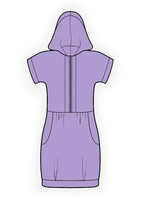online pattern download hooded tunic sewing pattern 4151 made to measure