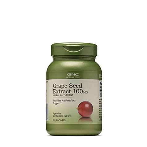 Gnc Herbal Plus California Only 100 Capsules Jet gnc herbal plus grape seed extract 100 mg 200 caps buy in uae health and