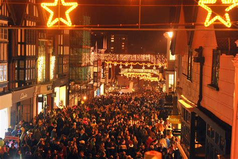 guildford s christmas lights switch on get surrey