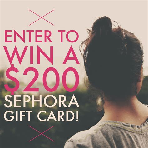 Sephora Email Gift Card - sephora giveaway win a 200 gift card closed