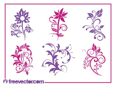 Free Plans by Blooming Flower Pack Silhouettes Free Vector