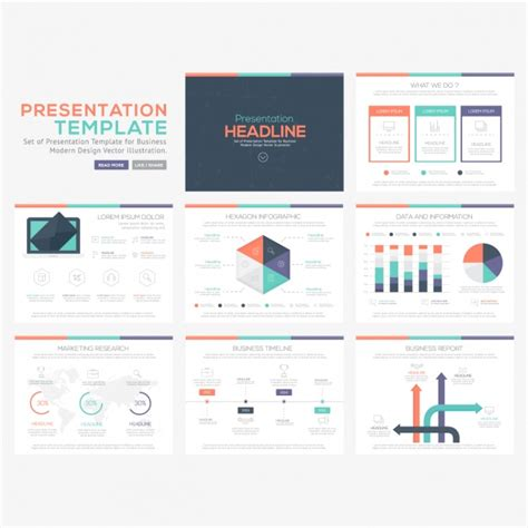 graphic design powerpoint templates free infographic templates collection vector free