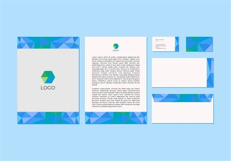 stationery layout vector free blue vector letterhead design download free vector