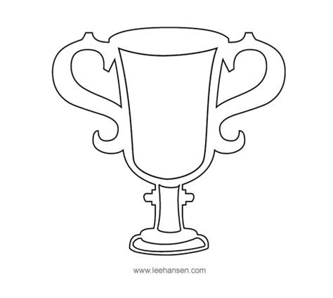 Trophy Card Template by Trophy Outline Search Kindergarten