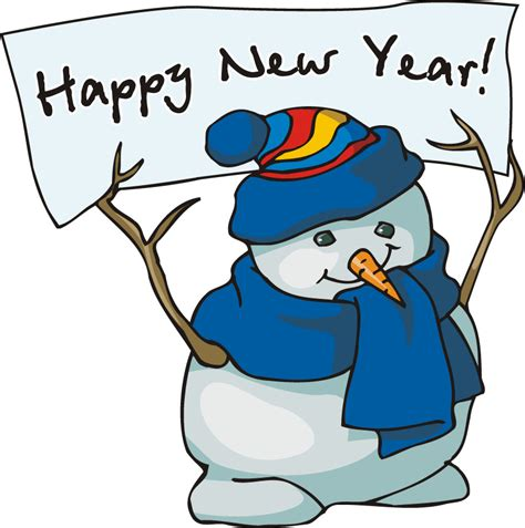 happy new year clipart free 2014 happy new year snowman clip for preschoolers coloring point