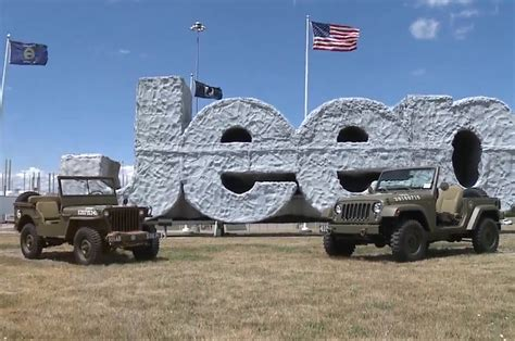 jeep wrangler military wrangler 75th salute military jeep concept revealed video