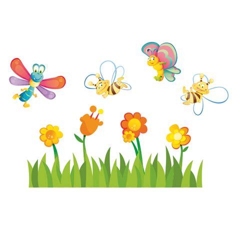 fiori e api stickers da parete cameretta bambini adesivi murali