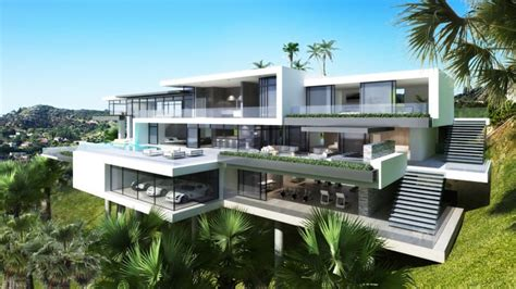 modern mansion two luxury ultramodern mansions on sunset plaza drive in