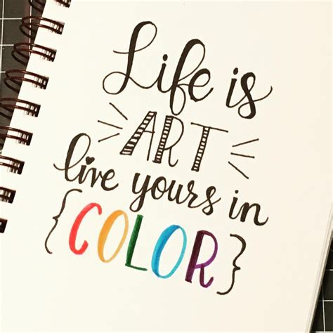 life  colour calligraphy typography