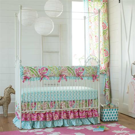 crib bedding set for girl kumari garden baby crib bedding carousel designs