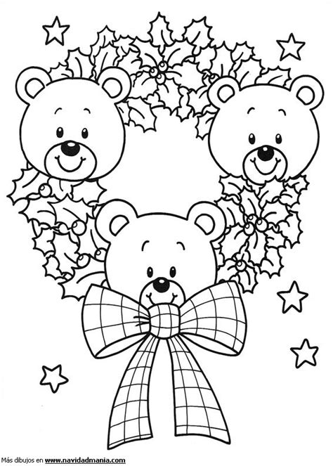 dibujos de navidad para colorear de ositos dibujo de caras de ositos para colorear de navidad
