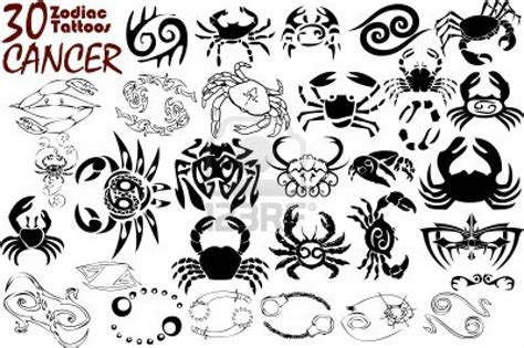 astrological tattoos designs zodiac cancer sign 30 designs